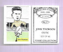 Glasgow Celtic John Thomson Scotland 17 (FC)